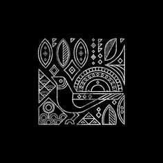 Birds on Behance Geometric Graphic Design, Geometric Art, Madhubani Art, Madhubani Painting, Arte Tribal, Tribal Art, Worli Painting, Indian Art Paintings, Abstract Paintings