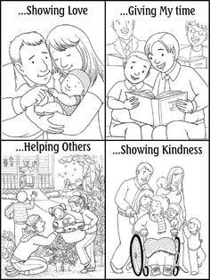 Free Coloring Pages Showing Kindness. For nearly 6 years Darin and I were primary teachers in our ward  designed kindness coloring pages printable sheets for kids
