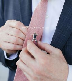 Coolest DIY Fathers Day Gift Ever - DIY Shrinky Dink Tie Tacks by Oh Happy Day