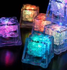 Ice Blue Centerpieces | ... colors including red, pink, green, blue, pink, white, amber andpurple