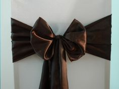 Chocolate Brown Satin  www.blueorchid-events.com