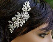 Bridal Hair Comb Leaves Headpiece Vintage Wedding Comb Rhinestone Wedding Hair Accessories Leaves Headpiece IVY