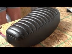 How to Make a Pleated Seat Cover for a Motorcycle - YouTube | How to make channel back cushion
