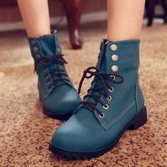 Buy  77Queen – Lace-Up Studded Ankle Boots  at YesStyle.com plus 30c69da2c7