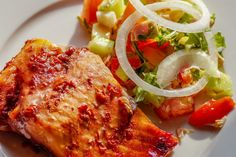 Atkins 72 Induction Menu with Recipes (Keto Quick-Start Guide) Keto Foods, Healthy Fats Foods, Healthy Eating, Healthy Crockpot Recipes, Diet Recipes, Maple Glazed Salmon, Oven Roasted Salmon, Chile Guajillo, Zone Diet