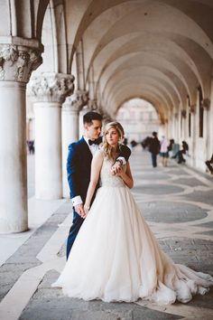 A breathtaking elopement location deserves a breathtaking elopement dress | Image by Allure Bridals