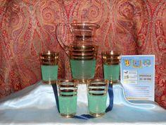 SERVIZIO BICCHIERI DA BIBITA VINTAGE CON ORO GLASSES cocktail