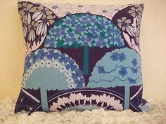 """Vintage 60's 70's Heals fabric cushion cover """"Tree tops"""" By Grace Sullivan 