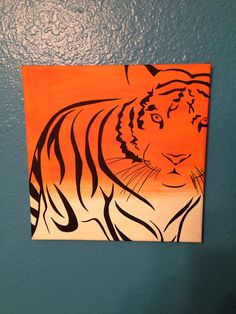 Tiger Canvas Painting ... Custom Order at www.etsy.com/shop/livelaughpaint