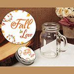 Vintage mini mason jar favor fall in love design