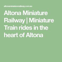 Altona Miniature Railway | Miniature Train rides in the heart of Altona