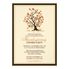 Thanksgiving Dinner Party Invite