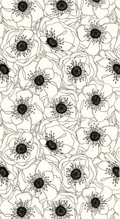 awesome flower patern, organic but minimalist, love the botanicals in black and white www.pinterest.com/labstyle