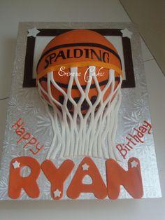 BasketBall Cake Cake for birthday Cupcakes, Cupcake Cakes, Teen Cakes, Cakes For Boys, Birthday Cakes For Teens, 16th Birthday, Cake Birthday, Birthday Ideas, Basketball Birthday