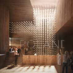WXCA has collaborated with Bellprat to design the pavilion for Poland for the World Expo 2020 at Dubai. The pavilion celebrates all things Polish! World Expo 2020, Wooden Pavilion, Big Architects, Interior Design Dubai, Pavilion Design, Genius Loci, Flock Of Birds, Built Environment, Sustainable Architecture