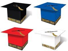 Graduation Cap Card Box (Choose Color) - Decoration For Home Graduation Party Centerpieces, Graduation Party Planning, College Graduation Parties, Graduation Decorations, Graduation Party Decor, Grad Parties, Graduation Ideas, Preschool Graduation, Graduation Card Boxes