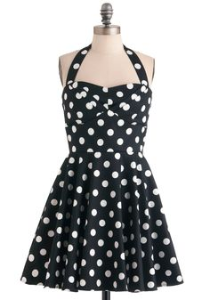 Traveling Cupcake Truck Dress in Black, #ModCloth #partydress I love the vintage style.