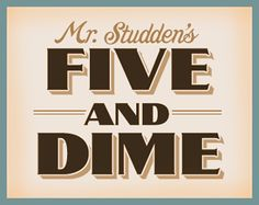 LHF Five & Dime by John Studden from Letterhead Fonts