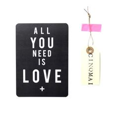 Image of Carte All you need is love - gris ardoise