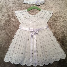Girl& Clothing, Bring home baby girl outfit, baby knitwear set, handmade, O. Crochet Toddler Dress, Crochet Dress Girl, Crochet Baby Dress Pattern, Baby Girl Crochet, Crochet Baby Clothes, Newborn Crochet, Crochet For Kids, Knitted Baby, Baby Girl Patterns