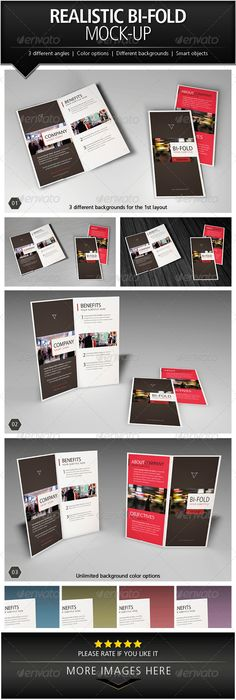 Realistic Bi-Fold Brochure Mock-Up Download here: https://graphicriver.net/item/realistic-bifold-brochure-mockup/5046500?ref=KlitVogli