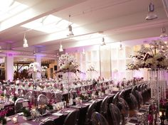 Contemporary Wedding In Purple & Lucite, at Andrew Richard Designs - PaletteraPalettera