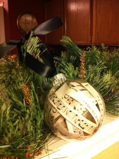 DIY Music filled glass ornament