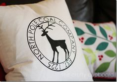 North Pole Coal Company Christmas Pillow by the Crafty Cupboard