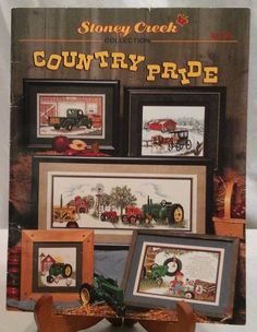 Vintage Counted Cross Stitch Patterns Country Pride 7 Patterns by LouisandRileys on Etsy