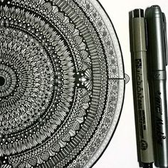 Mandala sneak peek! About a halfway done with this xxl piece. No more pics of this until it's completely finished!  #art #instaart #instagood #artoftheday #originalart #decorative #detail #design #pattern #wip #inkdrawing #blackwork #silver #mandala #mandaladrawing #mandala_sharing #mandalaart #halfmandala #zendala #zentangle #doodle #mandalala #heymandalas #beautiful_mandalas #abstractart #friday
