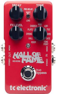 TC Electronic Hall of Fame Reverb Pedal: Hall Of Fame Reverb is a collection of the ultimate reverbs, packed tightly in one cool pedal. With Hall of Fame Reverb, you are set for any situation that calls for a touch (or handfuls) of rich reverberation