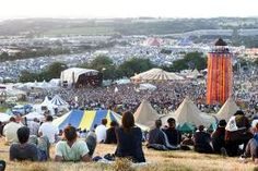 Such a great view from up here. Makes you realise just how big #Glastonbury is...