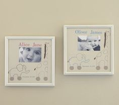 Embroidered Photo Birth Announcement #pbkids