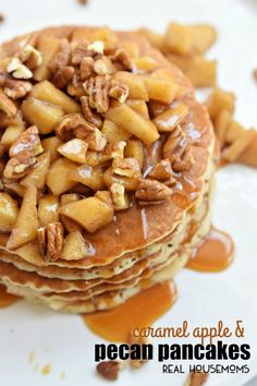 Caramel Apple and Pecan Pancakes