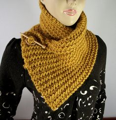KNITTING PATTERN SCARF Boston Scarf Cowl by LiliaCraftParty