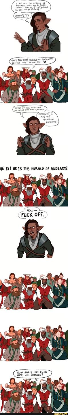 OMFG LIFE OF BRIAN MEETS DRAGON AGE! No, seriously, this could also be my Inquisitor, Andromeda Trevelyan xD