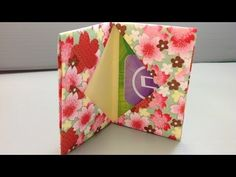 """▶ Origami Gift Card Holder for Back to School Shopping - YouTube. Try using our WHO template to personalize your WHO box! Website going """"Live"""" in April!"""