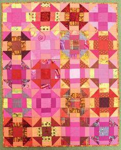 Churn Dash quilt by Bobbe Nolan. 2013 Raffle quilt, Sam Houston Memorial Museum.