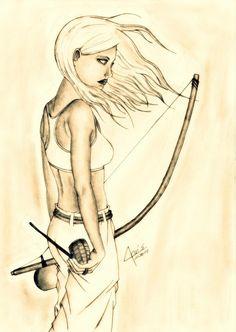 Capoeira Girl - awesome capoeira art