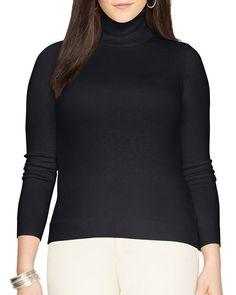 Lauren Ralph Lauren Plus Silk-Cotton Turtleneck Sweater
