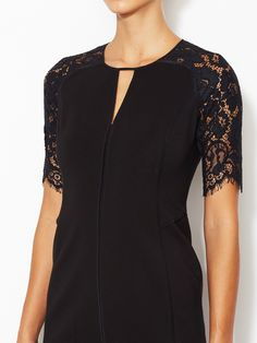 Lace Sleeve Fitted Dress from 100 Top Winter Looks on Gilt