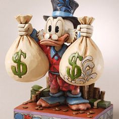 Disney Traditions Uncle Scrooge McDuck Figurine by Jim Shore, 4027137 available at Flossie's Gifts and Collectibles Disney Duck, Disney Love, Disney Mickey, Disney Pixar, Disney Bound, Deco Disney, Arte Disney, Disney Magic, Disney Figurines