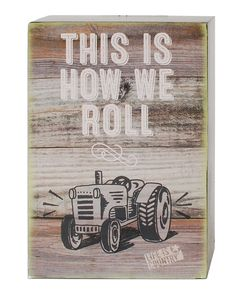 'How We Roll' Tractor Box Sign Wall Decor (Set of 4)