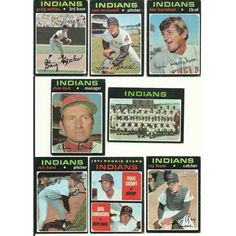 1971 VINTAGE Topps INDIANS Team 22 cards partial set lot Nettles McDowell Fosse Listing in the 1970-1979,Sets,MLB,Baseball,Sports Cards,Sport Memorabilia & Cards Category on eBid United States | 147698117