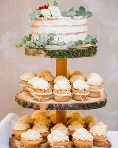 - Cupcakes recipe - The Effective Pictures We Offer You About wedding cakes vintage square A quality picture c Wedding Cake Prices, Fall Wedding Cakes, Wedding Cakes With Cupcakes, Mini Cupcakes, Cupcake Cakes, Autumn Wedding, Doughnut Wedding Cake, Wedding Decor, Wedding Ideas