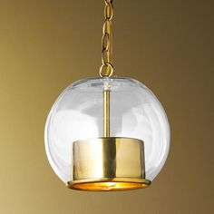 Cap and Globe Pendant - 2 Finishes This pendant works well in traditional and modern spaces. The hand-blown clear glass round globe creates . Mercury Glass Pendant Light, Globe Pendant Light, Pendant Lighting, Dining Lighting, Pendant Lamps, Kitchen Lighting, Crystal Lights, Kitchen Pendants, Glass Pendants