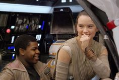 Star Wars the Force Awakens Vanity Fair more behind the scenes with John Boyega and Daisy Ridley