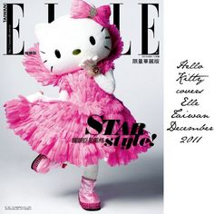 Hello Kitty covers Elle Taiwan December 2011