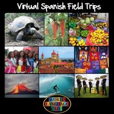 Virtual Spanish Field Trips - Travel to all the Spanish speaking countries with your students this year to learn about their people's and cultures.  No permission slips needed.  :)