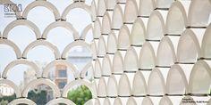 Increíble celosía cerámica para el Oceanario de Lisboa-ceramica a mano alzada
